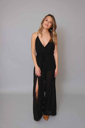 Night Cap Black Jumpsuit