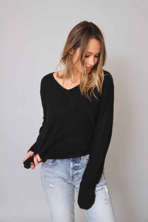 Everyday Black Sweater