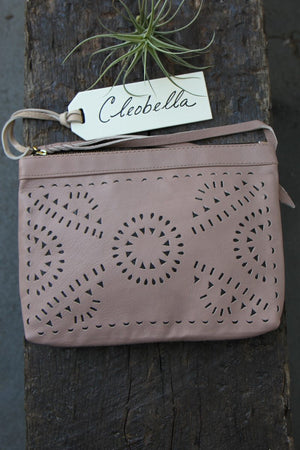 Champagne Mexicana Make-Up Bag by Cleobella