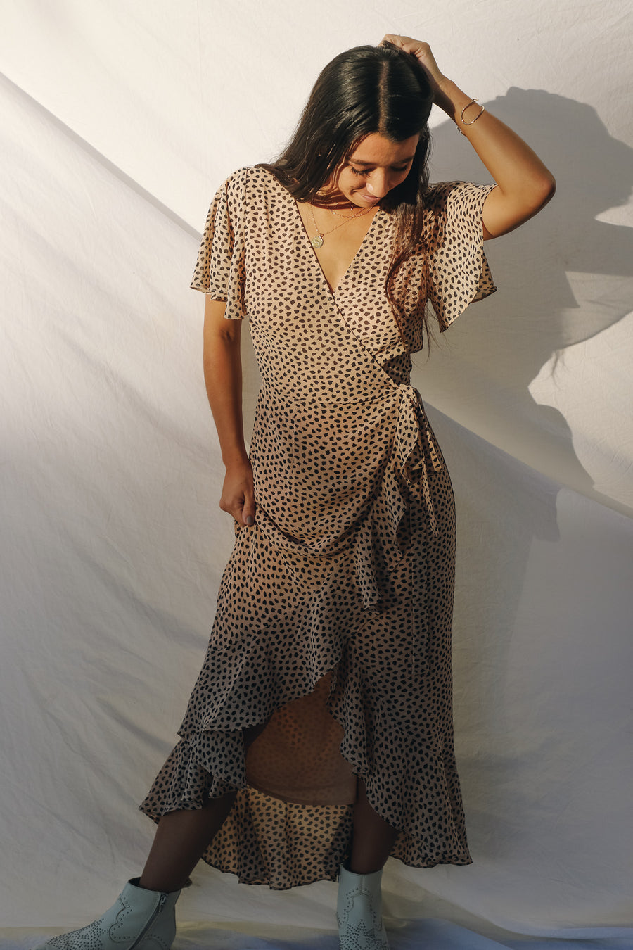 Cheetah Wrap Dress