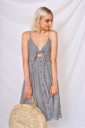 Seaside Striped Midi Dress