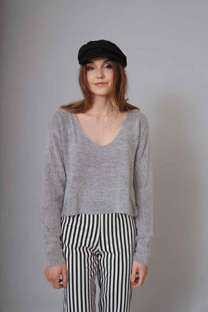 Carly Gray Sweater