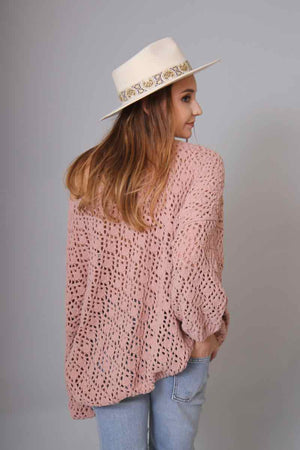 Brianna Blush Knit Sweater