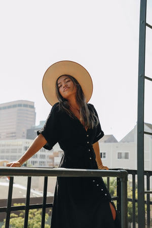 Sweet & Simple Black Midi Dress