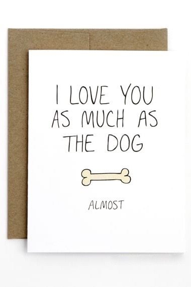 As Much as the Dog Card by Julie Ann Art