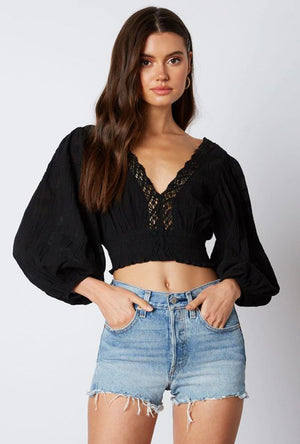 Black Bohemian Rhapsody Blouse