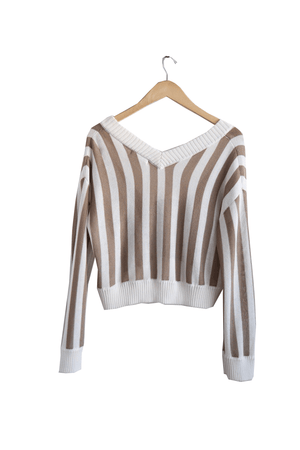 Brown/Cream Beckett Sweater