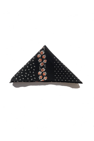 Black Dotted Bandana