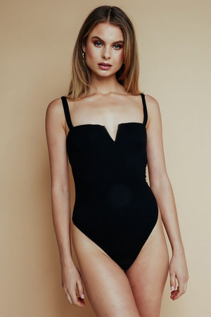 Black Harper Sweetheart Bodysuit
