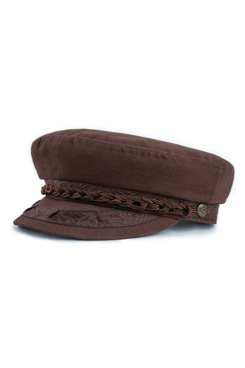 Brown Athens Cap by Brixton