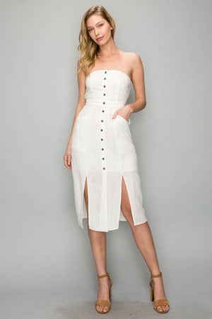 Bethany White Midi Dress