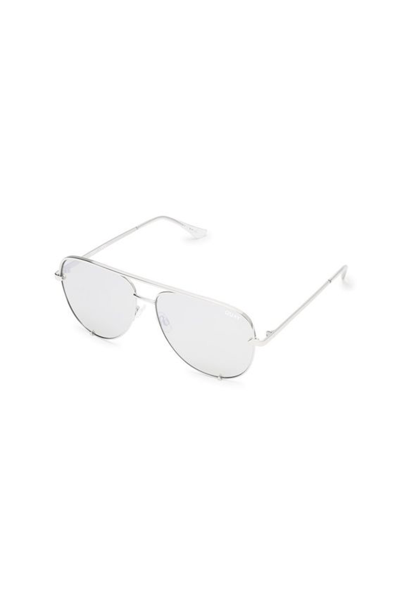 Silver/Silver High Key Sunglasses by Quay