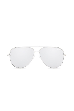 High Key Sunglasses (Silver/Silver) by Quay