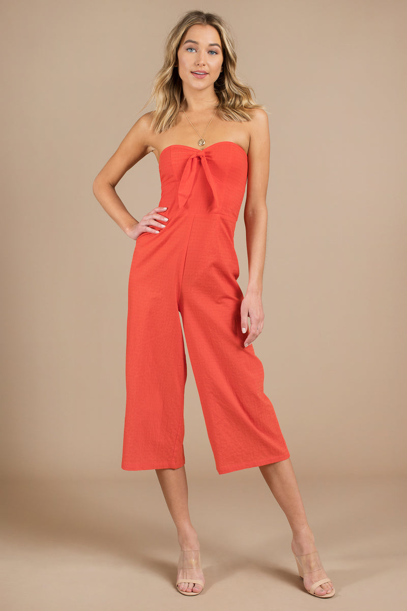 Say It Right Strapless Jumpsuit by MINKPINK