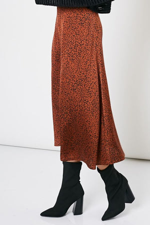 Can't Be Tamed Leopard Midi Skirt