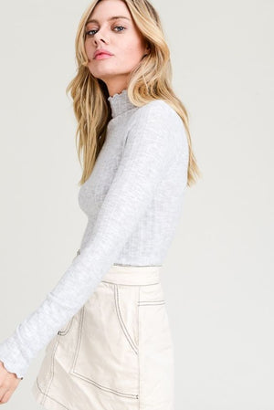 Brady Mock Neck Long Sleeved Top