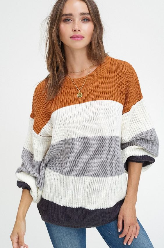 Better Together Striped Sweater