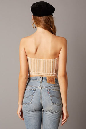 Champagne Night Dancer Velvet Tube Top