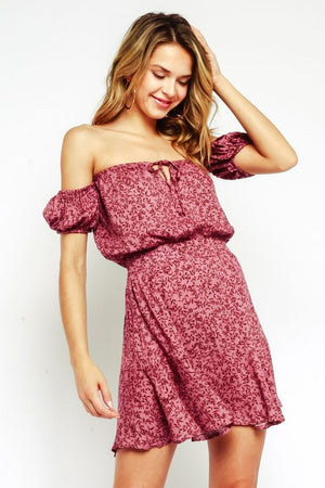 Adeline Fuchsia Mini Dress