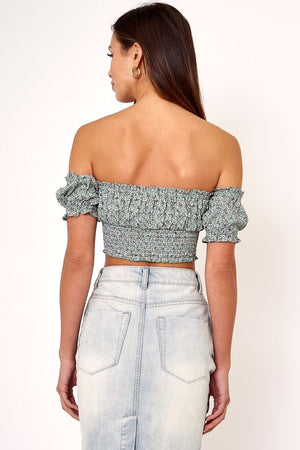 Alice Printed Crop Top