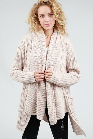 Rainy Days Cream Plush Cardigan