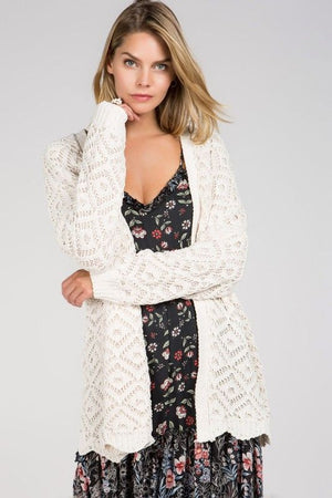 Raya Cream Knitted Cardigan