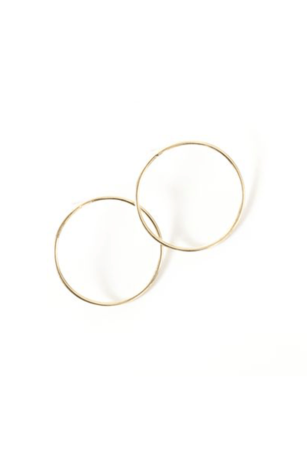 Gold Infinity Hoop Earrings