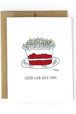 Good Luck Card by Julie Ann Art