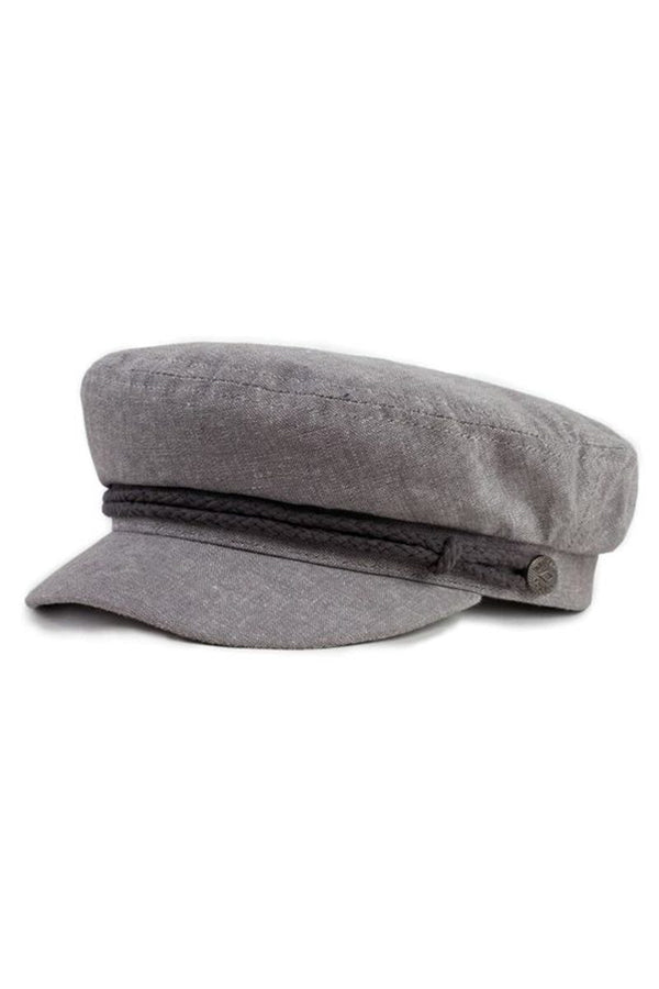 Gray Fiddler Cap by Brixton