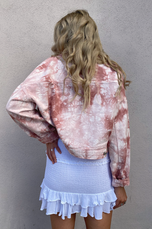 Rosewater Tie Dye Denim Jacket