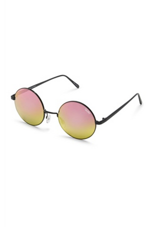 Electric Dreams Sunglasses (Black/Mirror) by Quay