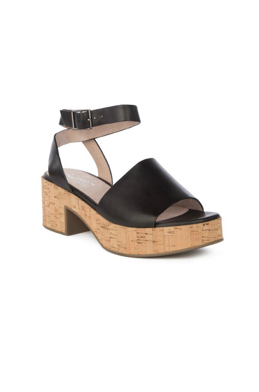 Calming Influence Leather + Cork Sandal by Seychelles