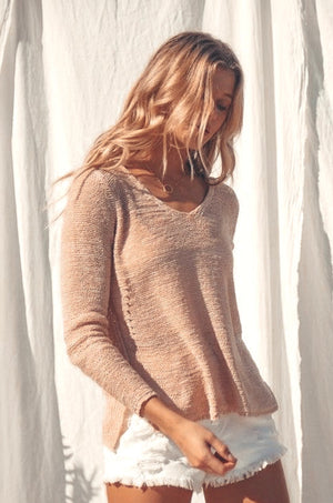 Blush Day Trip Light Weight Sweater