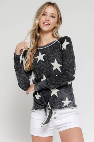 Charcoal Star Softest Sweater