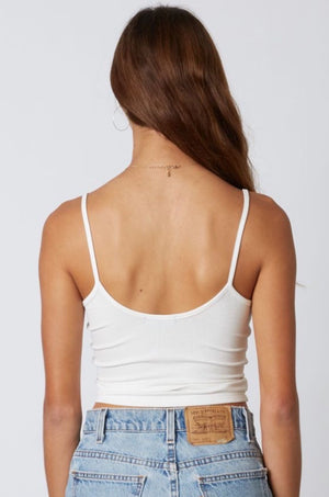 Ivory Chesney Cinched Crop Tank