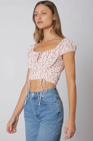 Malia Ruched Floral Top