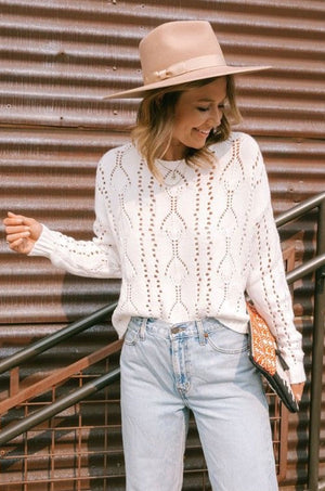 To The Point Ivory Sweater
