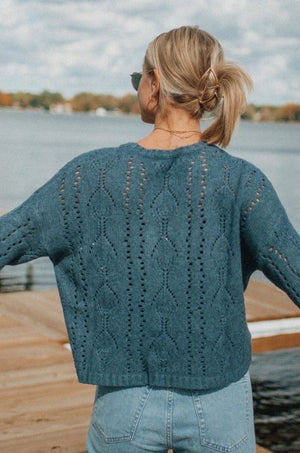 To The Point Dark Teal Sweater