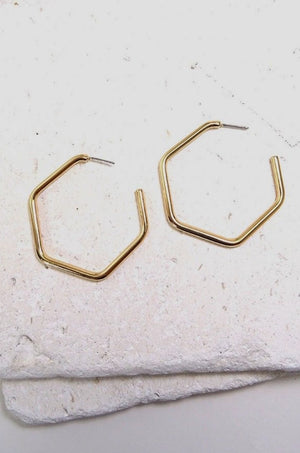 Gold Seville Hoop Earrings