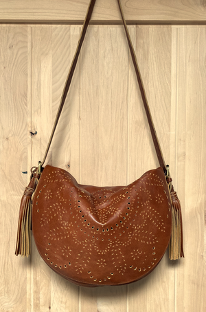 Brown Desert Rose Crossbody Bag By ELF