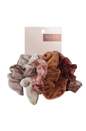 5 Pc Rust Tie Dye Scrunchies by Kitsch