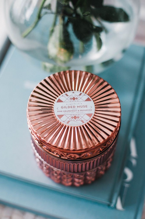 Pink Gilded Muse Grapefruit & Prosecco Candle by Capri Blue