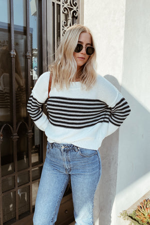 Black Striped Verona Sweater