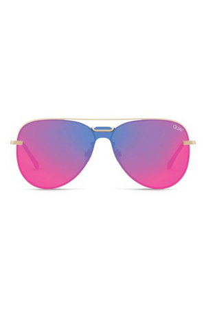 Notorious Sunglasses (Gold/Pink) by Quay