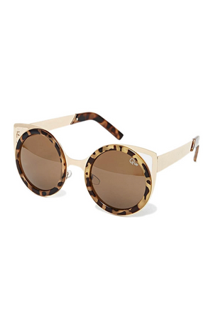 Let's Dance Sunglasses (Gold/Tort) by Quay