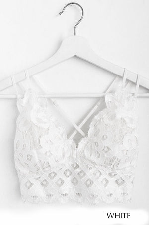 Strappy Lace Bralette (Multiple Colors)