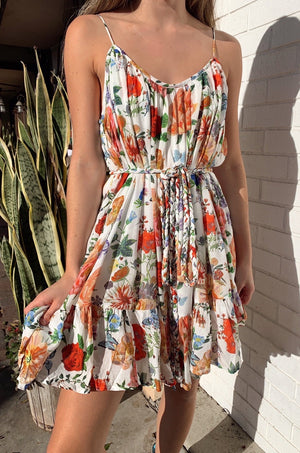 Wildflowers Belted Mini Dress