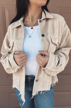 Tan Lexie Corduroy Jacket