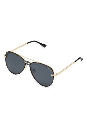Notorious Sunglasses (Gold/Smoke) by Quay