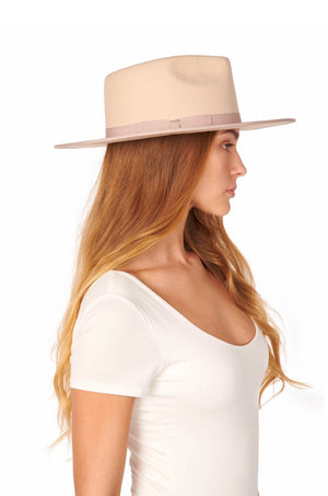 Astoria Blush Felt Fedora Hat by Olive & Pique
